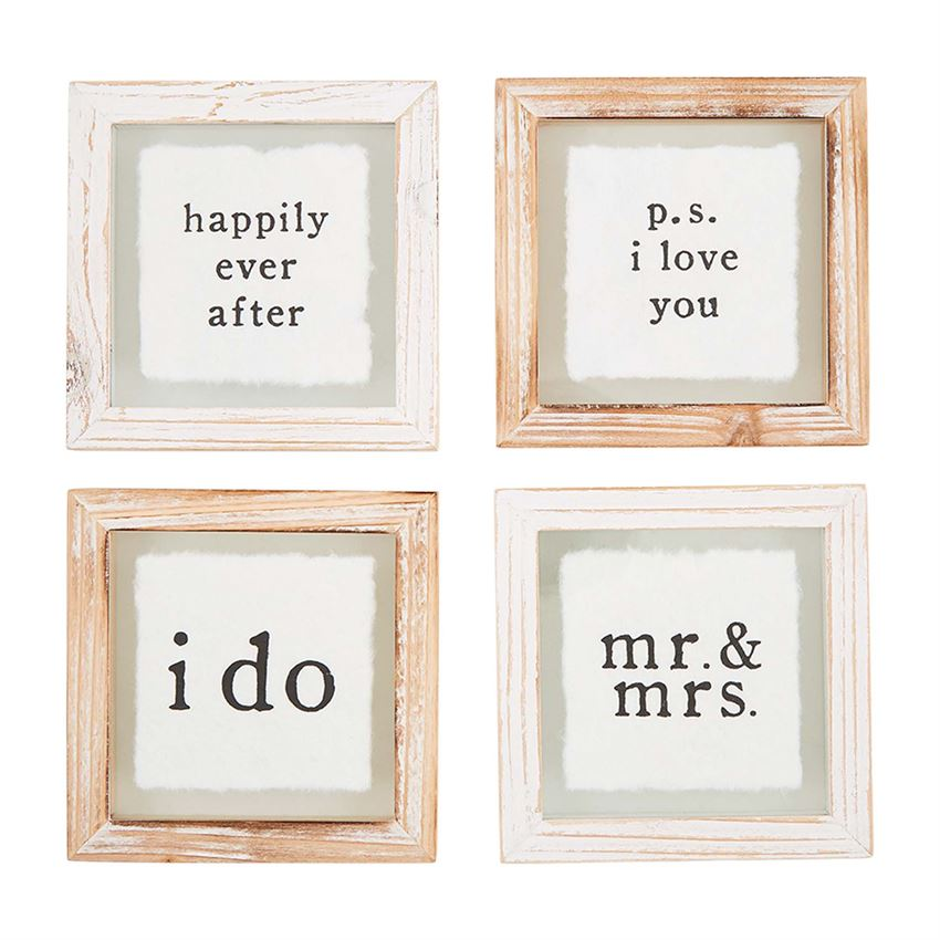 MR MRS PLAQUE WOOD COASTER