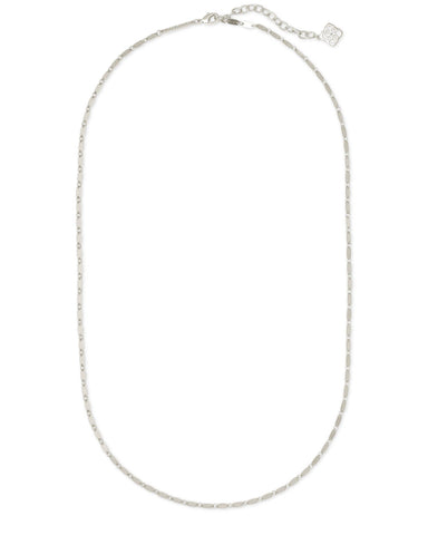 LOLA CHAIN NECKLACE RHODIUM METAL