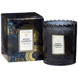 MOSO BAMBOO SCALLOPED CANDLE