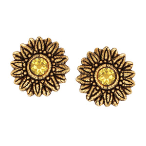 SUNFLOWER STUDD EARRING