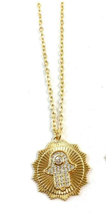 BOWIE MIDLENGTH HAMSA NECKLACE