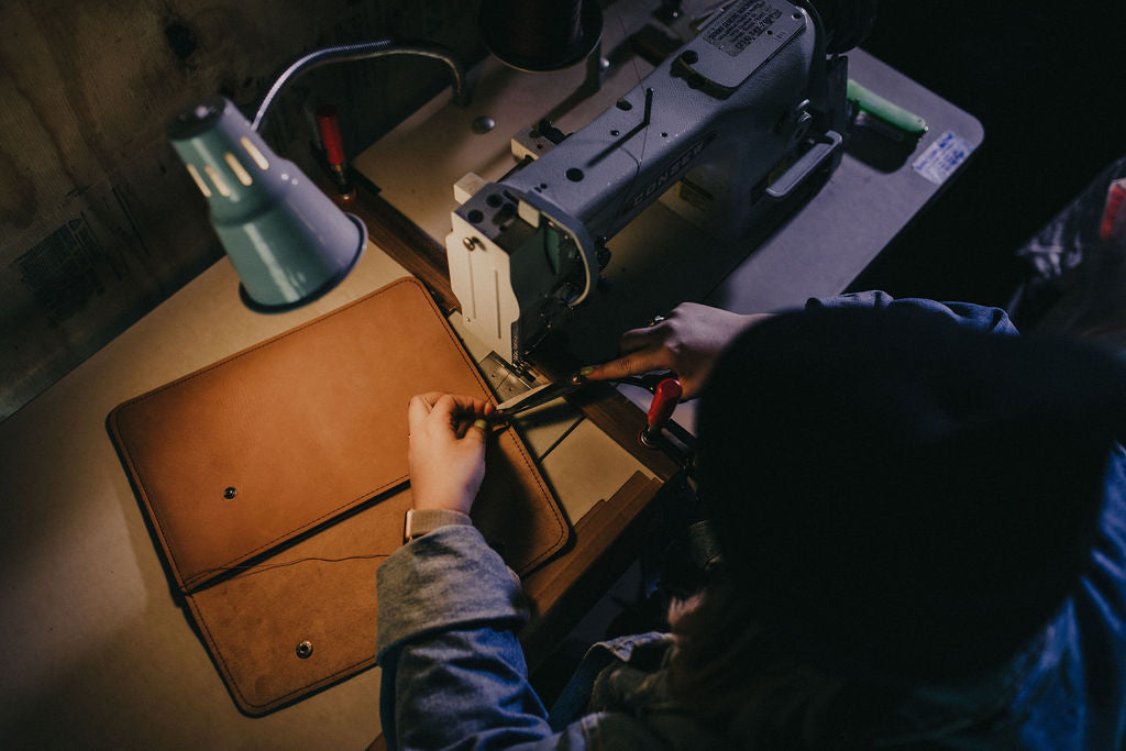Sewing Leather MacBook Case | Mission Leather Co
