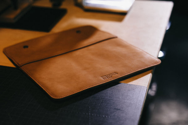 Tan Leather MacBook Case | Mission Leather Co