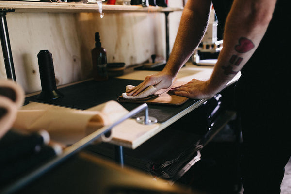 Polishing Leather MacBook Case | Mission Leather Co