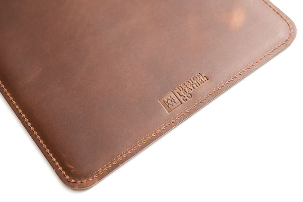 Brown Leather MacBook Sleeve | Mission Leather Co
