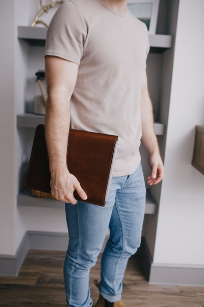 David Blease Leather MacBook Sleeve | Mission Leather Co