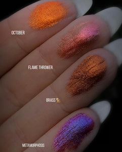 Pressed Pigment Eyeshadow (Tri-Chrome) - FLAME THROWER