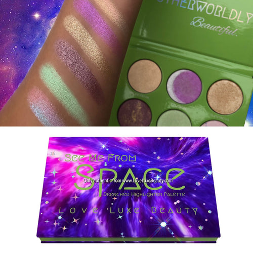 SEE ME FROM SPACE Drenched Highlighter Palette - Love Luxe Beauty