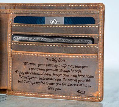 Wherever Your Journey My Son - Wallet