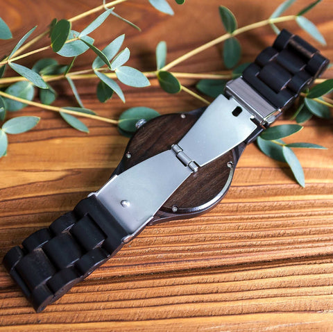 Wooden wrist watch is ideal for Valentine, 1st year or 1st month anniversary gift for your boyfriend
