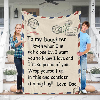 Dad and Daughter - Blanket
