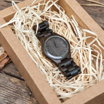 Custom Engraved Wooden Watch For Men