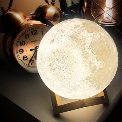 Beautiful Young Lady - Moon Lamp