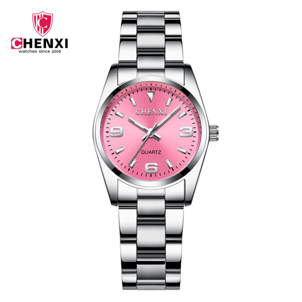 003A CHENXI Brand Fashion Woman Men Lover Casual Stainless Steel Waterproof Business Quartz Clock Wrist Watch Relogio Masculino