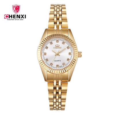 004a New Chenxi Brand Girl Watch Women Fashion Casual Quartz Watches Ladies Gloden Stainless Steel Female Gifts Clock Wristwatch