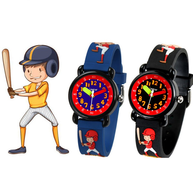 1 Pcs Children Kids Wrist Quartz Watch Round Dial Cute Cartoon Adjustable Strap CX17