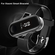 1 X Watch Band+1 X Watch Frame Fashion Protective Metal Frame Silicone Replace Watch Strap For Xiaomi Band Band Width 13.8mm 2pc