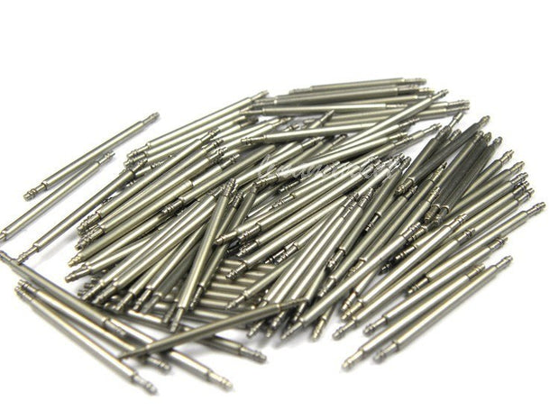 10PCS Silver Watchbands Stainless Steel Diameter 1.8mm Watch Bands Spring Bars Strap Link Pins Watches Accessories 10mm~30mm