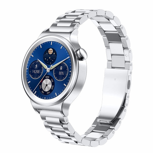 18mm Width Strap Stainless Steel Smart Watchband For Huawei Watch With Metal Buckle Classic Watch Strap For People