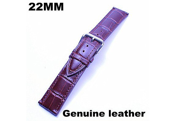 1pcs High Quality 22MM Genuine Leather Watch Band Watch Strap Black Color And Coffee Color - 3138