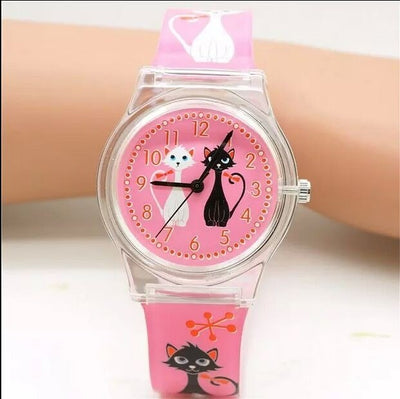 2 Colors Silicone Watches Cute Lovely Girl Ladies Women's Watch Children's Gift Horse Quartz Student Kids Animal Wristwatch
