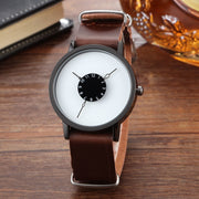 2016 Mens Gift PAIDU Brief Design Long Removable Strap Creative Upside Down Hand Unique Design For Young Fashion Quartz Watches
