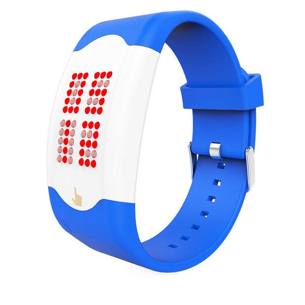 2017 Unisex Lover's Digital Watch Touch The LED Silicone Watch Blue Shope #3005
