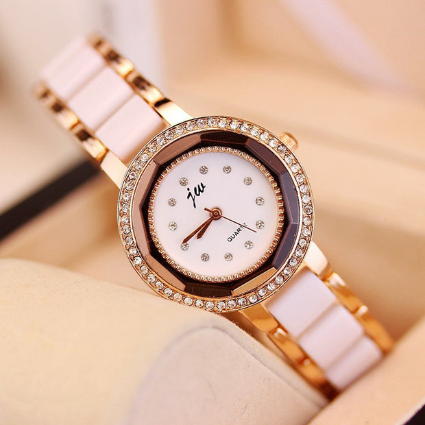 2018 Jw Brand Women Watches Alloy Crystal Wristwatches Ladies Dress Gift Gold Fashion Luxury Quartz Watch Female Clock