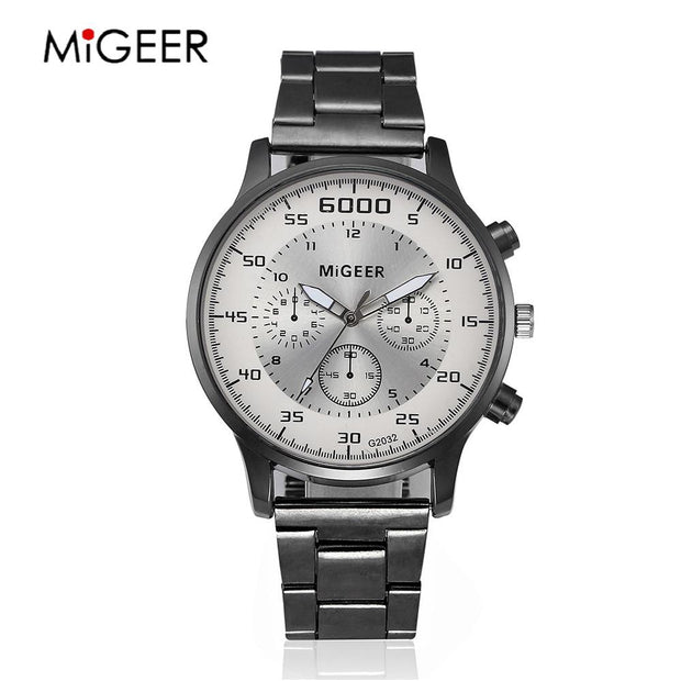 2018 Men Watches Top Brand Luxury Business Quartz Waterproof Watches Men's Stainless Steel Band Auto Date Wristwatches Relojes