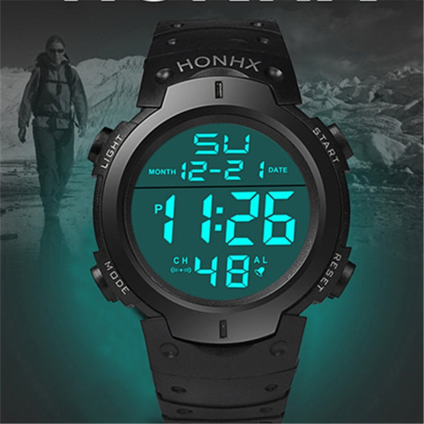2018 New Fashion LED Digital Luminous Watches Men's Military Sports Watch Clock Hour Hot Orologio Uomo