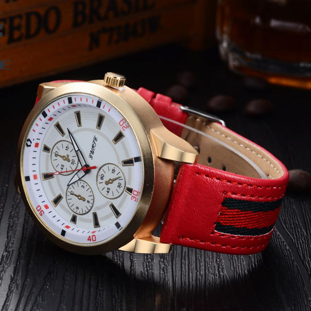 2018 New Fashion Men's Luxury Brand Casual Men's Watch Leather Sports Men's Watch Business Clock Felogio Masculino