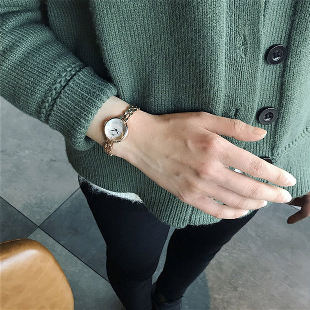 2018 New Fashion Women Watches High Quality Steel Chain Bracelet Watch Exquisite Tiny Ladies Dress Watch Relogio Feminino Gift
