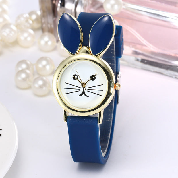 2018 New Lovely Silicone Children's Watches Creative Cartoon Watches Girls Sport Watch Kids Wristwatches Black Christmas Gifts