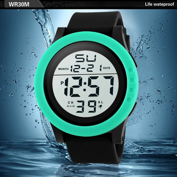 2018 New Watches Fashion Men's LED Waterproof Digital Quartz Military Luxury Sport Date Watches Clock Relogio Feminino Masculino