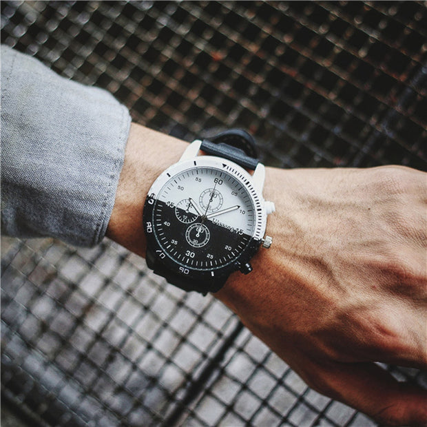 2018 News Arrival Men Fashion Personality Creative Movement Large Dial Tide Watch Men 's Watches11.09