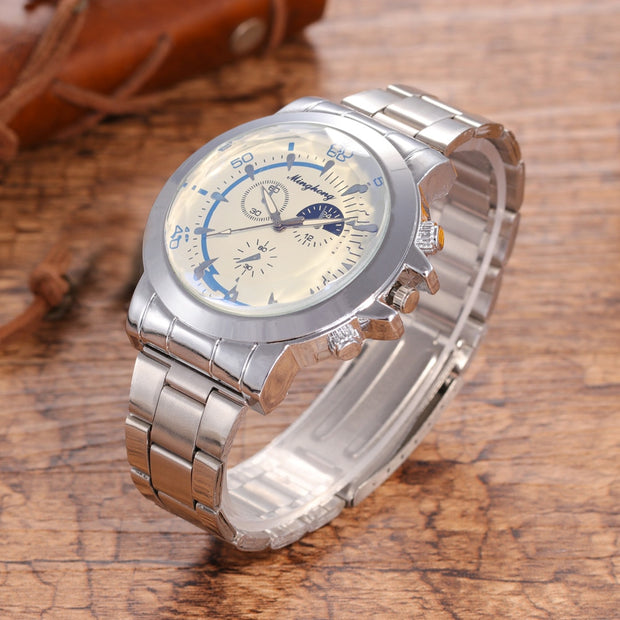 2018 News Luxury Watch Fashion Stainless Steel Watch For Men's Quartz Analog Wrist Watch 10.3