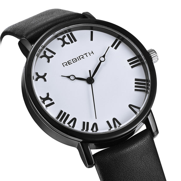 2018 Rebirth Women Watches Top Brand Luxury Ladies Classic Watch Female Casual Leather Strap Bracelet Fashion Clock Reloj Dama
