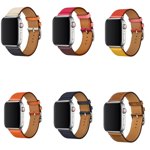 2018 Single Tour Band For Apple Watch Series 4 3/2/1 Swift Leather Strap For IWatch Wristband Classic 38mm 42mm 40mm 44mm