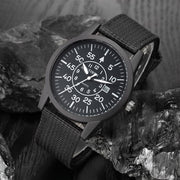 2018 XINEW Brand Watches Men Stainless Steel Back Nylon Band Casual Calendar Quartz Military Watch Nouveau Montre Homme Marque