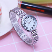 2018 Cyd Famous Brand Female Women Mother Holiday Gifts Ladies Quartz Wristwatches Large Digital Silver Grandma Fashion Clock