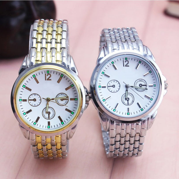 2018 Hot Famous Brand Men Stainless Steel Simple Dress Quartz Wristwatches Gentleman Business Waterproof Luminous Hands Clock