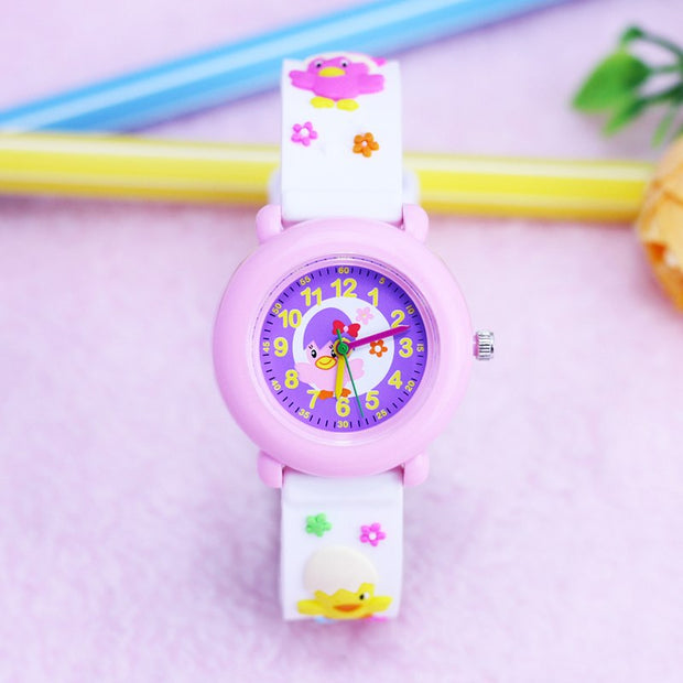 2018 Willis Brand Fashion Girls Lovely Small 3D Chicken Quartz Wrist Watches Little Kids Gifts Silicone Strap Personality Watch