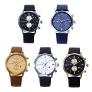 2019 Fashion Men Casual Waterproof Date Leather Military Japan Watch Gift Relogio Masculino New Arrival
