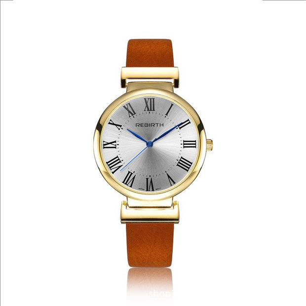 2019 Fashion Women's Watch Quartz Alloy PU Strap Ladies Creative Watches Wrist Clock Moment Female Business Scale Digital Watch