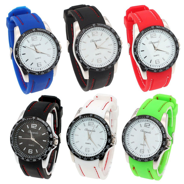2019 High Quality Man Watch Men Watches Silicone Rubber Jelly Gel Quartz Casual Sports Wrist Watch Newest Boy Watches