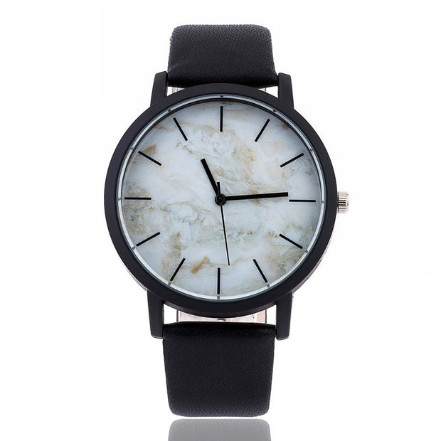 2019 Hot Fashion Marbling Stripe Creative Quartz Watch Men Women Wristwatches Genuine Leather Clock British Style Marble Watches