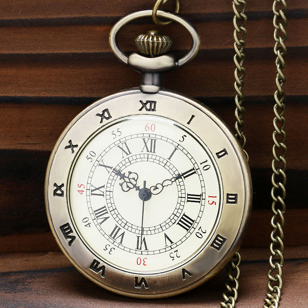 2019 Hot Gift For Boyfriend Girlfriend Simple Roman Number Dial Copper Quarzt Pocket Watch Unisex Vintage Necklace Pendant Item