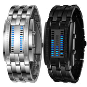 2019 Hot Sale Watches Men Luxury Men's Stainless Steel Date Digital LED Bracelet Sport Watches Relogio Masculino Hot Sales