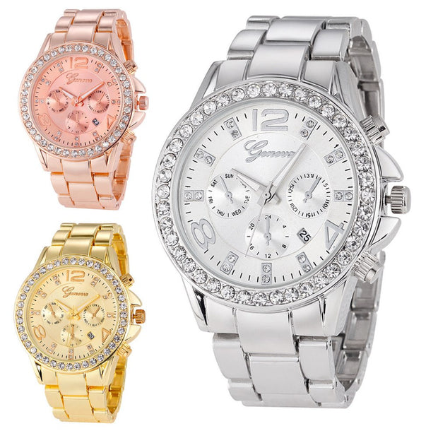 2019 New Arrived Luxury Women Crystal Dress Wristwatch Quartz Business Hours Clock Ladies Fashion Casual Watches Relojes Mujer