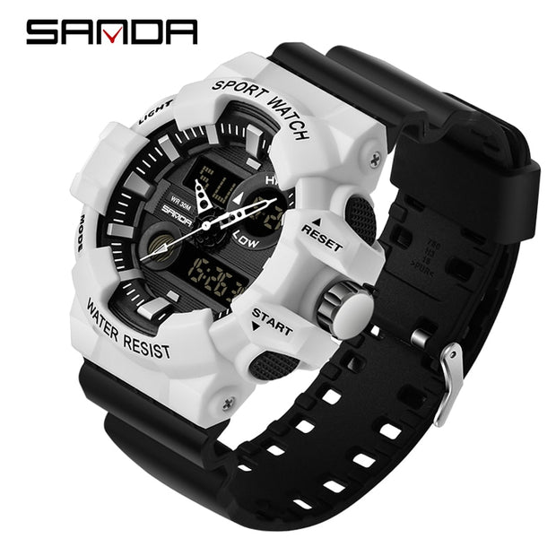 2019 New SANDA Sports Men's Watches Top Brand Luxury Military Quartz Watch Men Waterproof S Shock Wristwatches Relogio Masculino